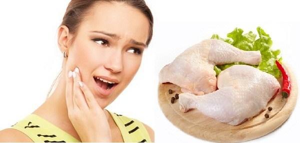 mới nhổ răng ăn thịt gà được không